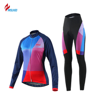 ARSUXEO 2017 Women Cycling Jersey MTB Bike Bicycle Shirts Jerseys Paded Cycling Clothing Maillot Ciclismo Motocross