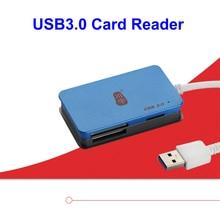 Кавау C368 Высокое Качество Читатель USB3.0 Карта максимальная поддержка 512 ГБ TF SD MS MS CF Card Reader Поддержка TF SD CF Карты В Наличии