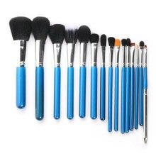 15 шт набор кистей для макияжа, пудра, основа, тени для век, подводка для глаз, кисть для губ, инструмент