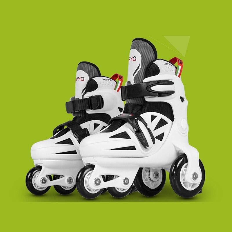 Дети милые стабильные слалом параллельные катания на коньках роликовые тормоза мигающая Обувь Регулируемая моющаяся Осенняя Предотвращение для девочек - 3