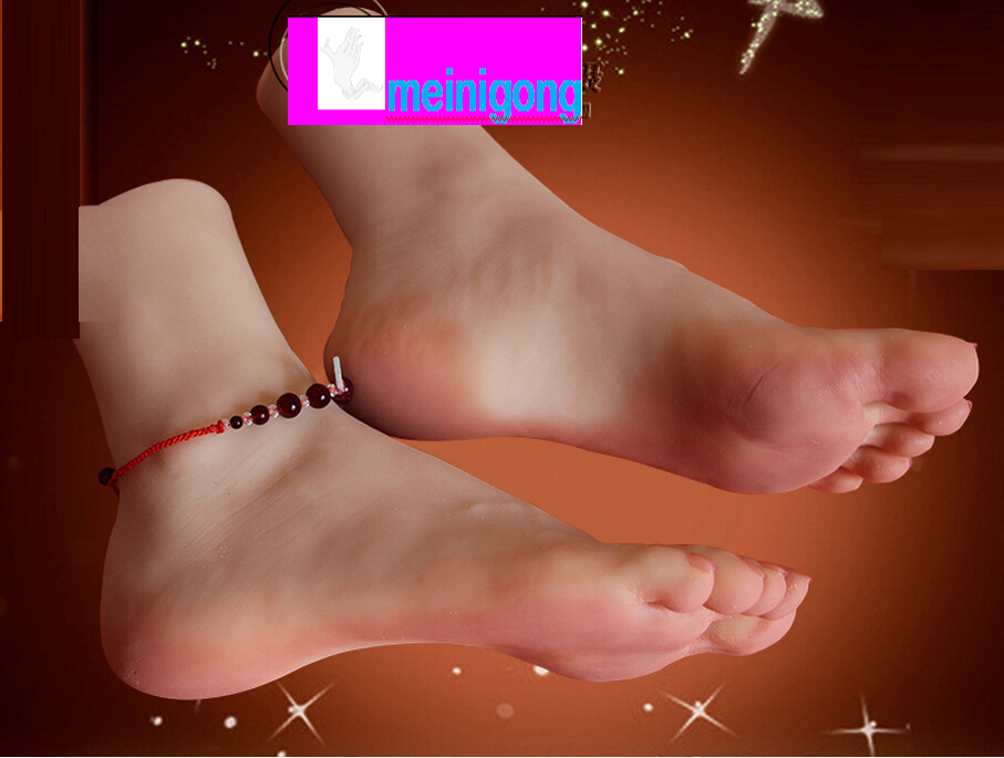 New arrival Sex Toy silicone Feet Fetish Toys for Man Young Girl Lifelike Female Feet, Sex Product ,Feet Model for Sock Show top quality new sex products soft feet fetish toys for man young girl lifelike female feet fake feet model for sock show