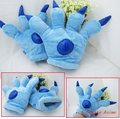 Wholesale 100pair (2pcs/pair) anime cosplay plush Stitch paw style glove.Free shipping 100pairs Stitch paw glove via DHL/EMS.