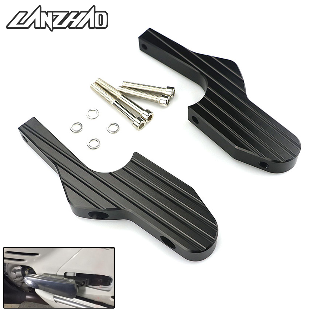 Motorcycle Passenger Foot Peg Joint Back Shift Extend Bracket Extensions for Piaggio Vespa GT GTS GTV