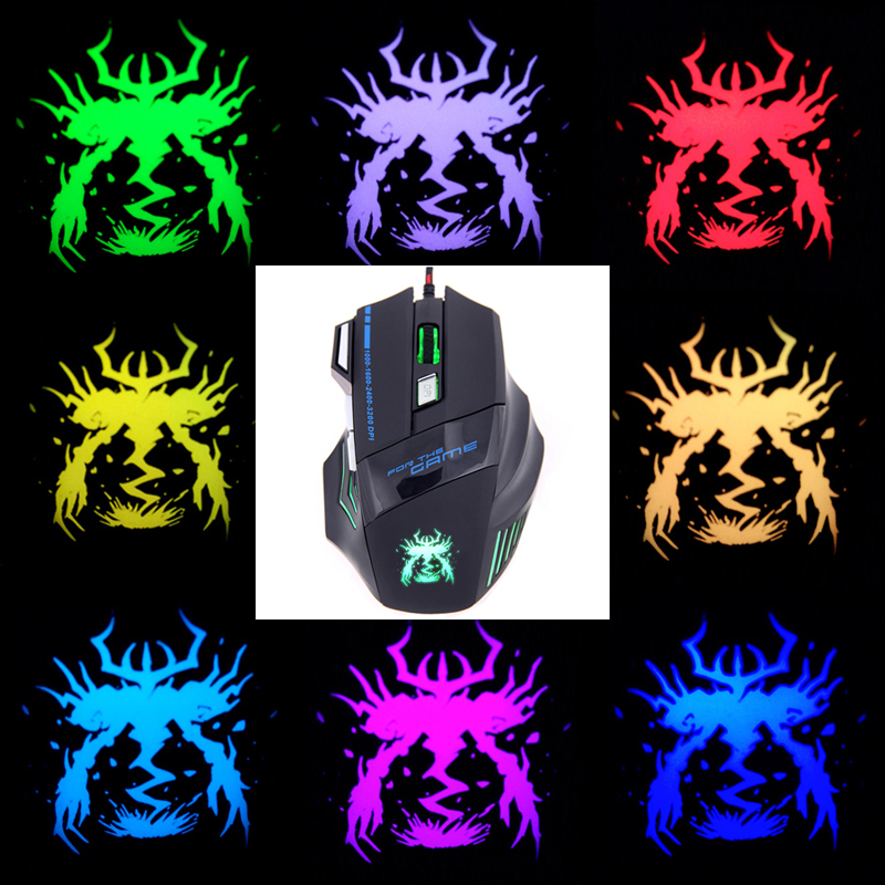 Snigir Brand Release 7 Keys USB Wired laptops computer pc notebook Mice Gaming Mouse Led Light For Dota2 cs go mause para jogos