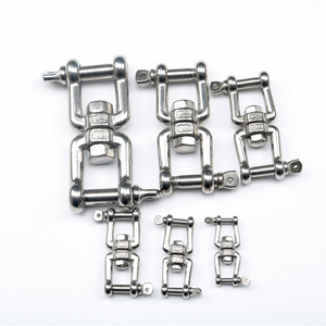 Image 5 - 304 Stainless Steel Rotation Quick Hook Buckles Jaw Shackle for Outdoor Rock Climbing Hiking Equipment Rotating Carabiner