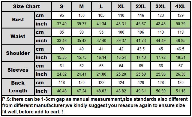 Size chart 009
