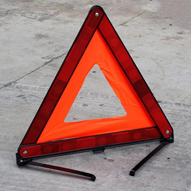 Practical Car Stop Sign Tripod Road Flasher Triangle Emergency
