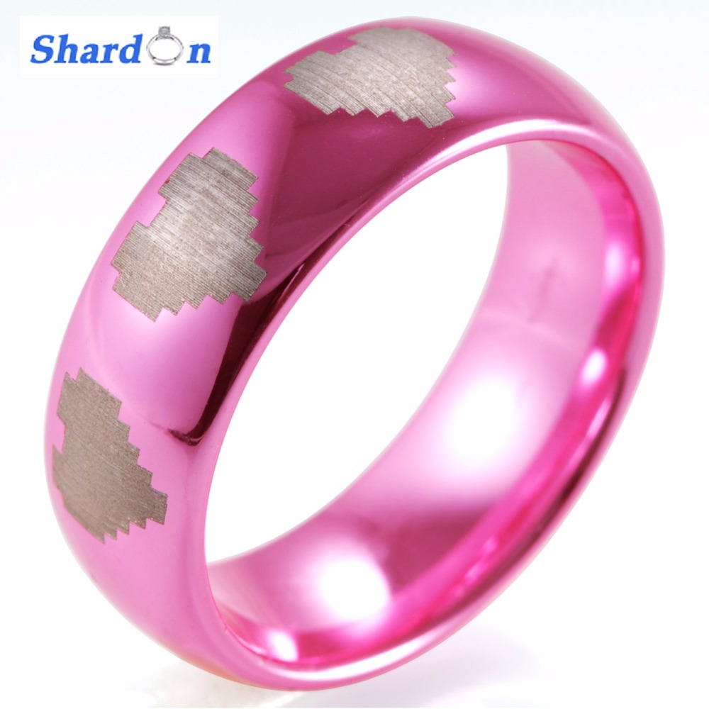 Buy pink tungsten rings and get free shipping on AliExpress.com