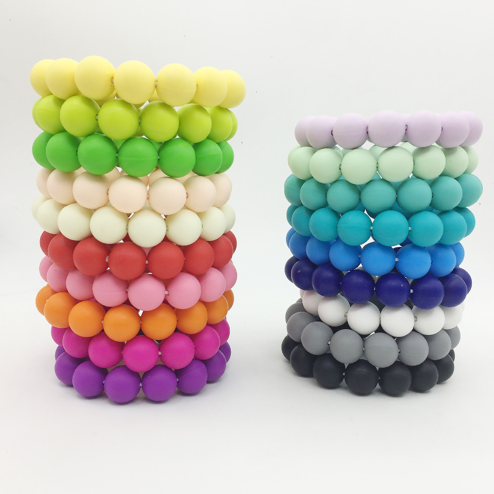BPA FREE Silicone beads bracelet Baby Teething Jewelry,Food grade Safe for Mom and baby BABY GIFT