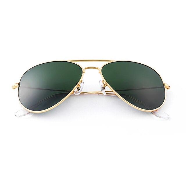 b68c74dec Bolo.ban for 3026 glass lens aviator sunglasses women men 62mm pilot classic  brand glasses mirror oculos de sol