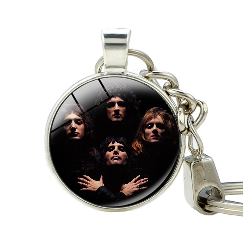 все цены на Classic Gorgeous Art Metal Rock Band Queen Bohemian Rhapsody Keychains Handcrafted Keychain Jewelry