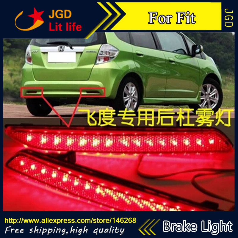ФОТО Free shipping Tail light parking warning rear bumper reflector for Honda Fit 2010 2011 2012 Car styling
