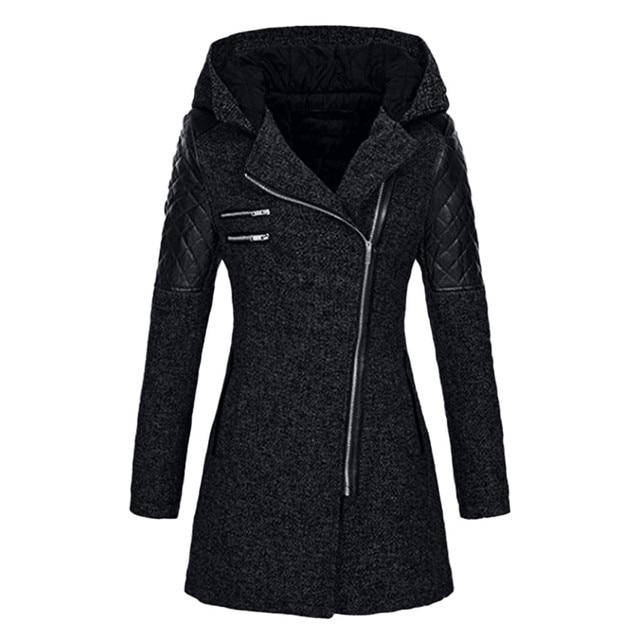 Nouveau chaud hiver manteau femmes chaud Slim veste épaisse Parka pardessus hiver Outwear manteau à fermeture éclair à capuche manteau femme hiver