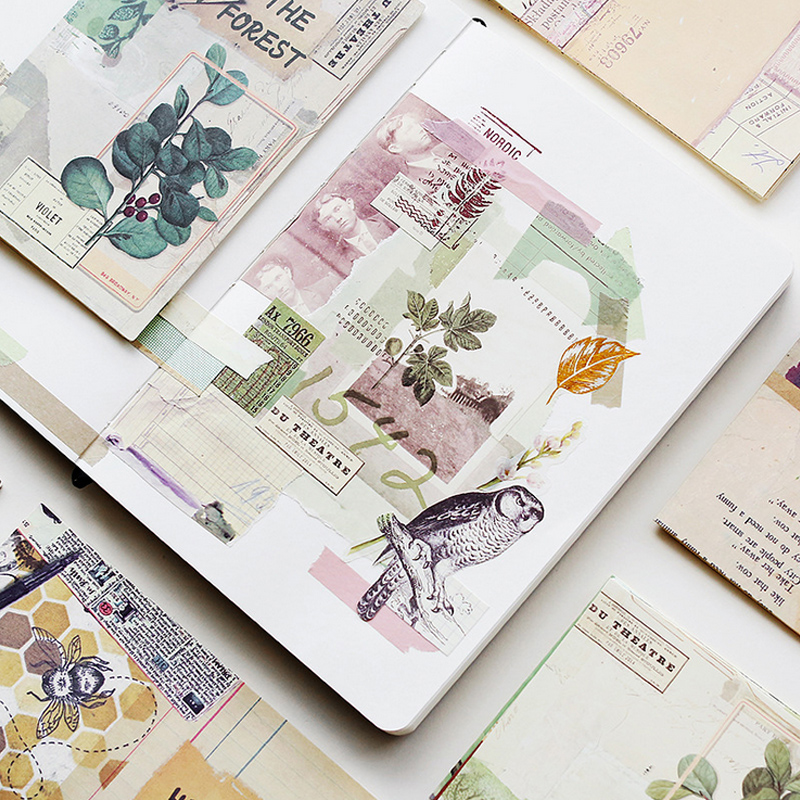 18 Sheet/Bag Vintage Newspaper Poster Decoration Paper DIY Diary Decoration For Planner Album Scrapbooking