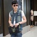 TG6145Cheap оптовая 2016 новый Рукавов джинсовой жилет тонкий срез жилет жилет пальто развивать подростки большие ярдов