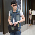 TG6145Cheap wholesale 2016 new Sleeveless denim waistcoat thin section waistcoat vest coat of cultivate teenagers big yards