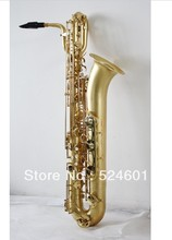 Fast Shipping Professional baritone saxophone matte gold baritone sax surface Gold Lacquer saxofone