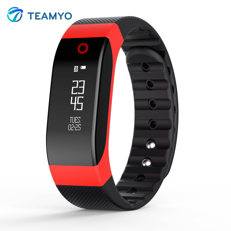 Teamyo OLED Display Smart Band Heart Rate Monitor Fitness Tracker Colorful Breathing Light SmartBand for iOS