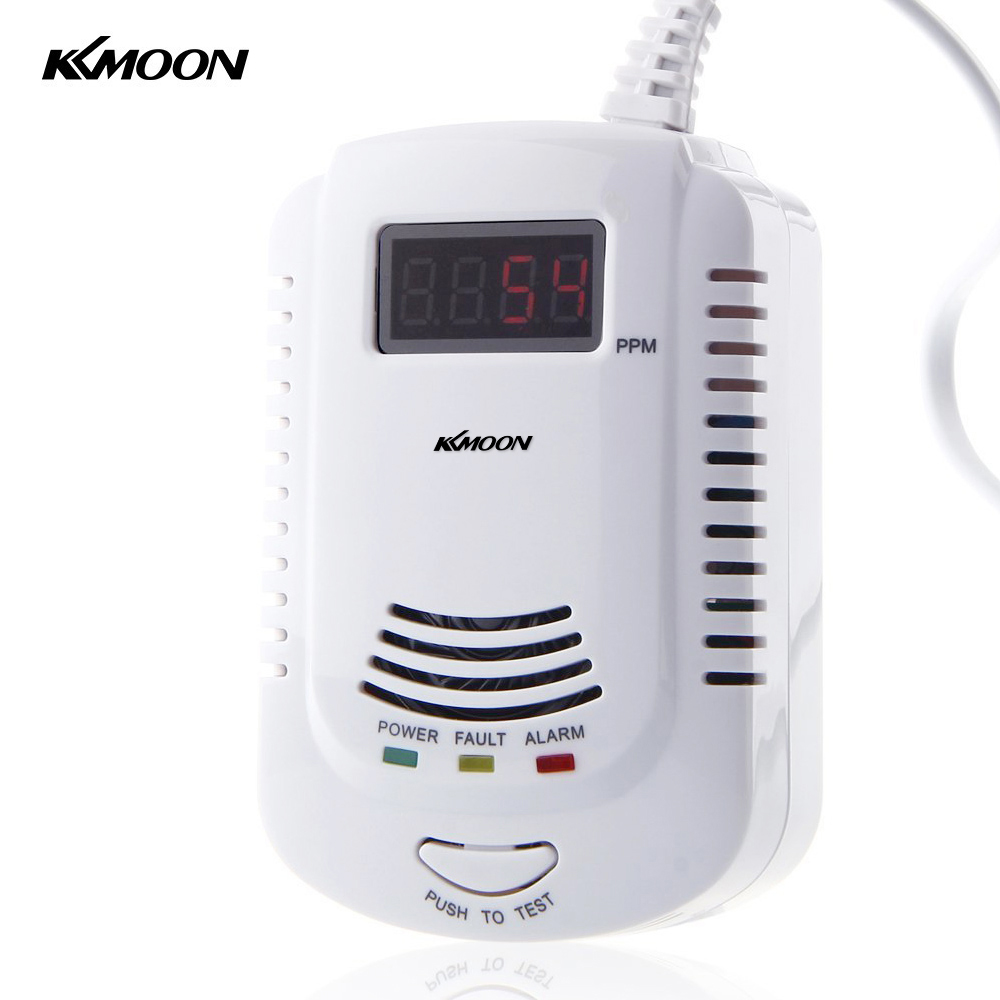 LCD Plug-In Combustible Gas Detector LPG LNG Coal Natural Gas Leak Alarm Voice Warning For Home Kitchen Security Alarm Sensor high quality standalone combustible gas alarm lpg lng coal natural gas leak detector sensor for home security safety