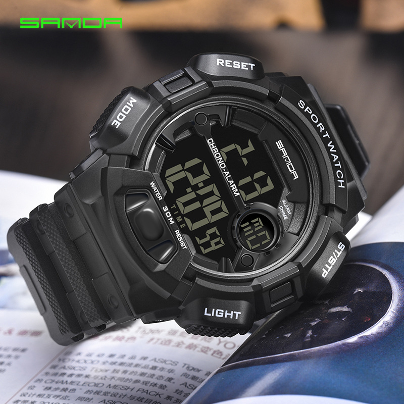 SD-319 Multifunction Waterproof Wristwatch Mens Watches Quartz Casual Sport Digital Watch LED Watch for Boys Reloj Deportivo