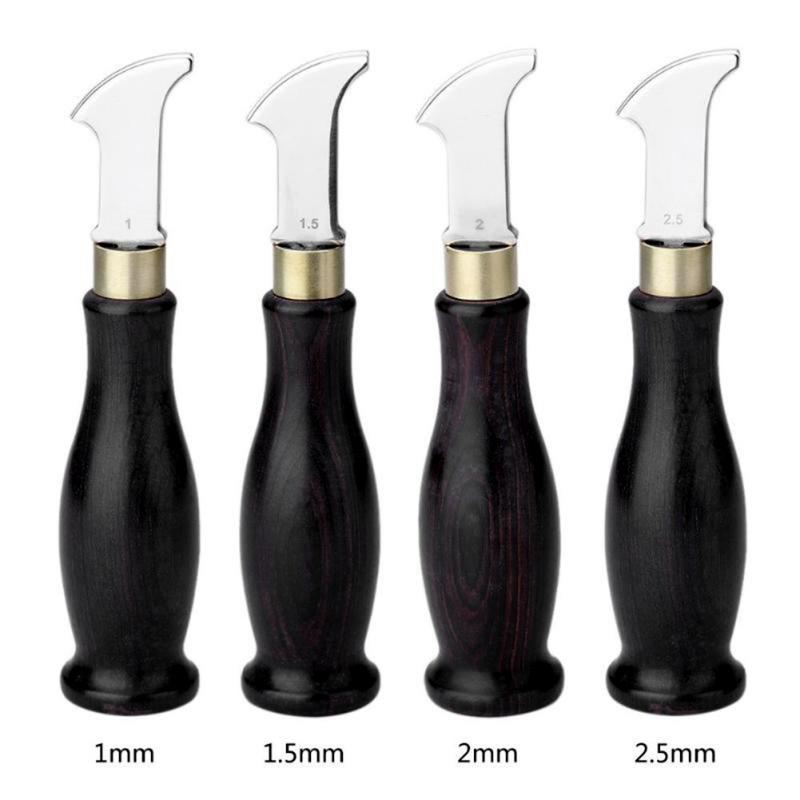 New Ebony Handle Leather Edge Creaser Leathercraft Marking Edge Decorate Line Tool Blade Shallow Groove Press Line