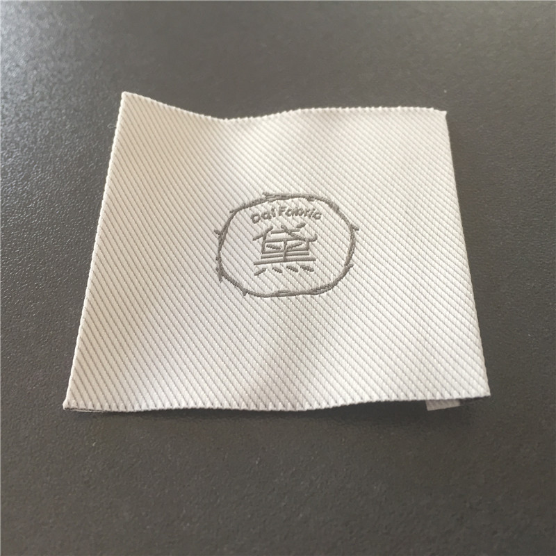 Custom High Density Taffeta End Fold Woven Labels Clothing Main Labels Garment Labels in Garment Labels from Home Garden