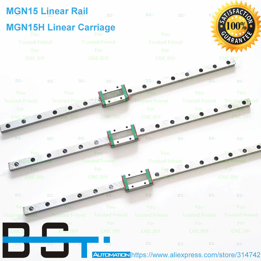 BSTMOTION 15mm Linear Guide MGN15 linear rail way MGN15H Long linear carriage for CNC X Y