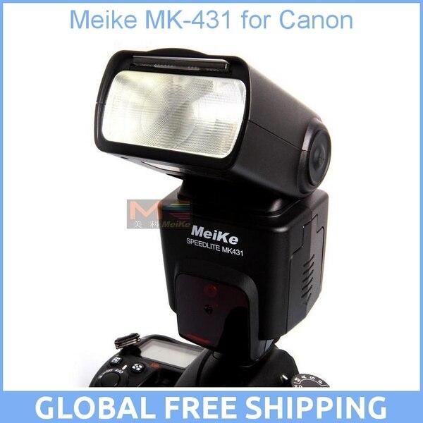 Meike MK-431 MK431 TTL Flash Speedlite for Canon EOS 5DIII 5DII 7D 60D 650D 600D 550D 500D 450D 400D 1100D triopo tr 950 flash light speedlite universal for fujifilm olympus nikon canon 650d 550d 450d 1100d 60d 7d 5d dslr cameras