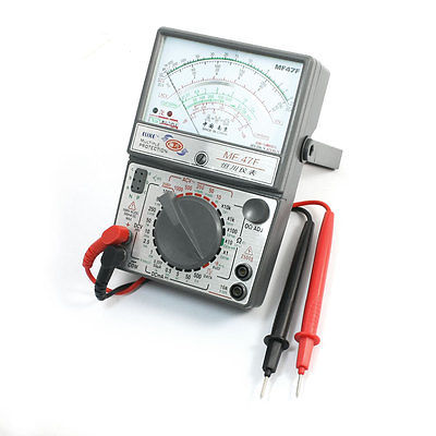 Battery Triode Test Multiple Protection Pointer Multimeter 0.05mA w Testing Lead MF-47F