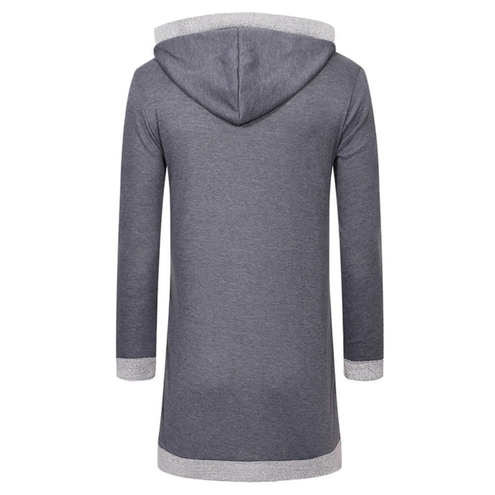 Fensajomon Men Camouflage Slim Fit Long Sleeve Zip Up Stitching Casual Sport Hooded Sweatshirts Jacket Coat