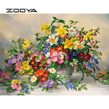 ZOOYA Diamond Painting Oil Vase Embroidery Full Pack 3D DIY Mosaic Decor Rhinestones Needlework RF1868