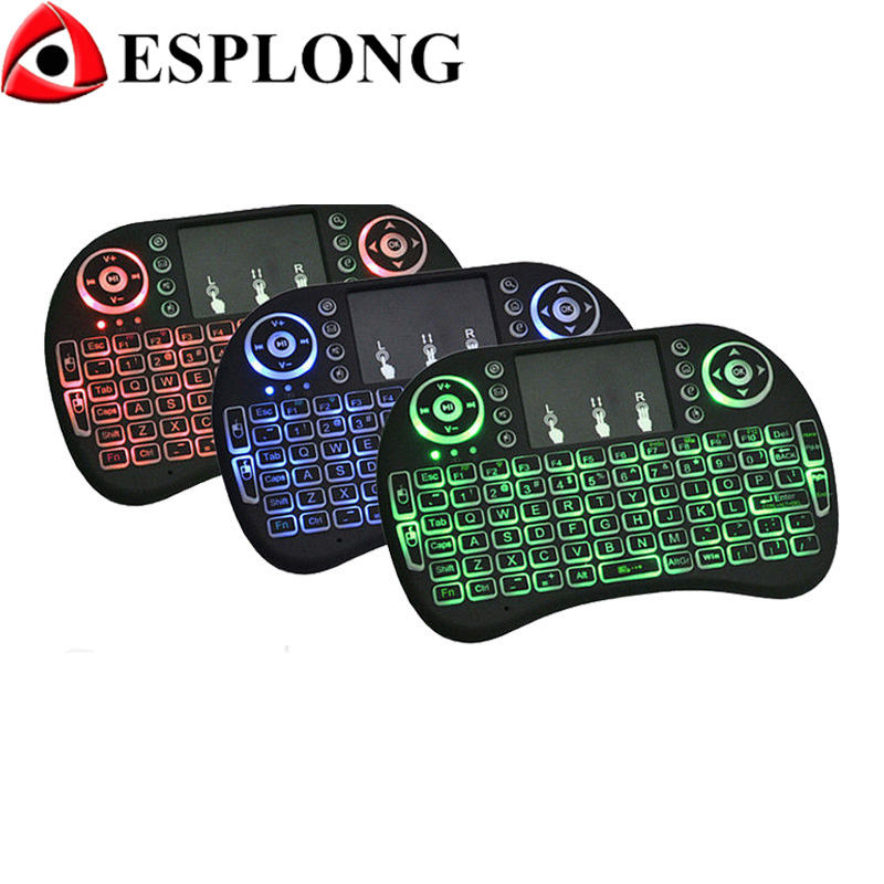 i8 Backlight Mini Wireless Keyboard 2 4GHz Touchpad Air Mouse Handheld Smart Remote Control for font