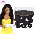 """Peruvian Body Wave Frontal Closure Ear to Ear  Lace Frontal Closure 13""""x4"""" Bleached Knots Body Wave Full Lace Frontal"""