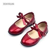 Нові дитячі білизна PU шкіра Bow дитячі взуття Bowknow дівчата Принцеса вечірки весільного танцю дитяча взуття для дитячого взуття