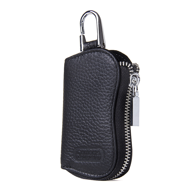 CONTACT'S Cow Leather Keys Wallets For Men Mini Key Holder Women Fashion Key Purse Small Housekeeper Card Key Holders Keychain 1
