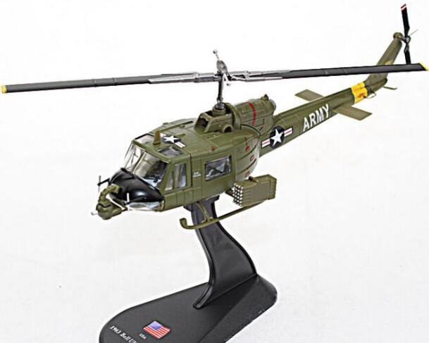 rare Special Offer 1 72 U S A UH 1B Semi alloy Helicopter Vietnam Battlefield Military