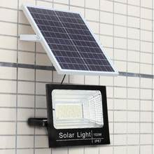 spot led exterieur 100W Led Solar Flood Light Waterproof Garden Lamp Outdoor Pathway Security Lights foco led exterior(China)
