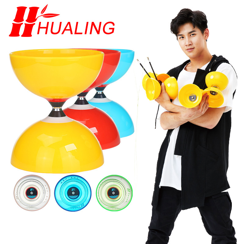 Vitesse 5 roulement jouets professionnel diabolojonglage ensemble emballage avec chaîne sac chine