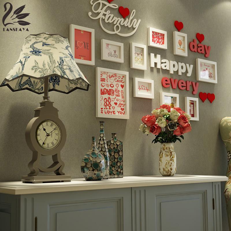 Lanskayaya Süße Liebe Holz Wand Foto Collage Rahmen Für Hochzeit ...