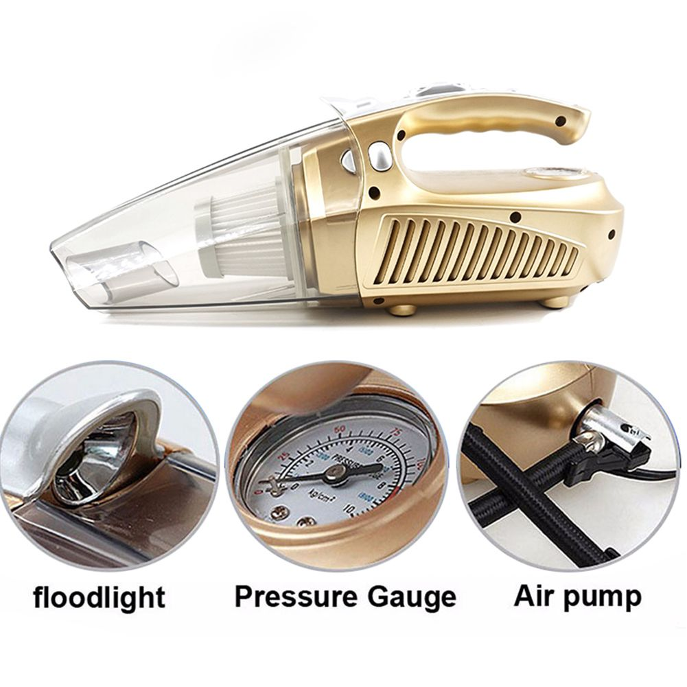 Multi-function Portable Car Vacuum Cleaner 12V 100W Wet and Aspirador PrESSure Pneumatic Lighting Tire inflatable Pump