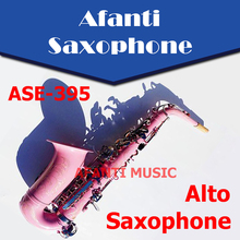 Afanti Music  Eb tone / Brass body / Glod finish Alto Saxophone (ASE-395)