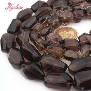 "Image 4 - 12x16 15x20 13x20 15x25mm Freeform Smokys Quartz Bead Natural Stone Beads For Necklace Bracelat Jewelry Making 15"" Free Shipping"