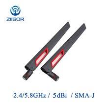 2 adet yönlendirici anten Wifi 2.4GHz Omni 5.8GHz anten Dual Band yüksek kazanç anten sinyal amplifikatörü WLAN SMA erkek hava Z11 BWFSJ