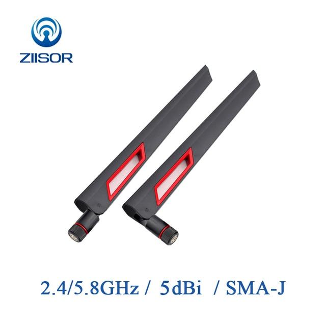 2pcs נתב אנטנת Wifi 2.4GHz Omni 5.8GHz אנטנת להקה כפולה רווח גבוה Antena אות מגבר WLAN SMA זכר אוויר Z11 BWFSJ