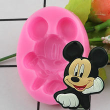 3D Cartoon Shape Silicone Mold Baby Birthday Fondant Cake Decorating Molds Chocolate Gumpaste Moulds Sugar Craft Baking Tools(China)