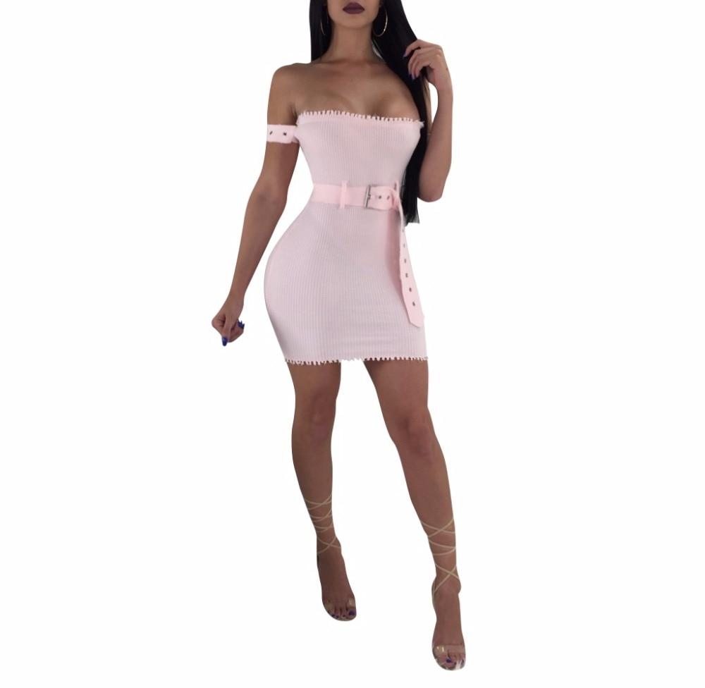 Sexy Off Shoulder Club Women Dress Slim Bodycon Dress Spring Summer Knitted Elastic Party Night Dresses Vestidos 2018 N женское платье summer dress 2015cute o women dress