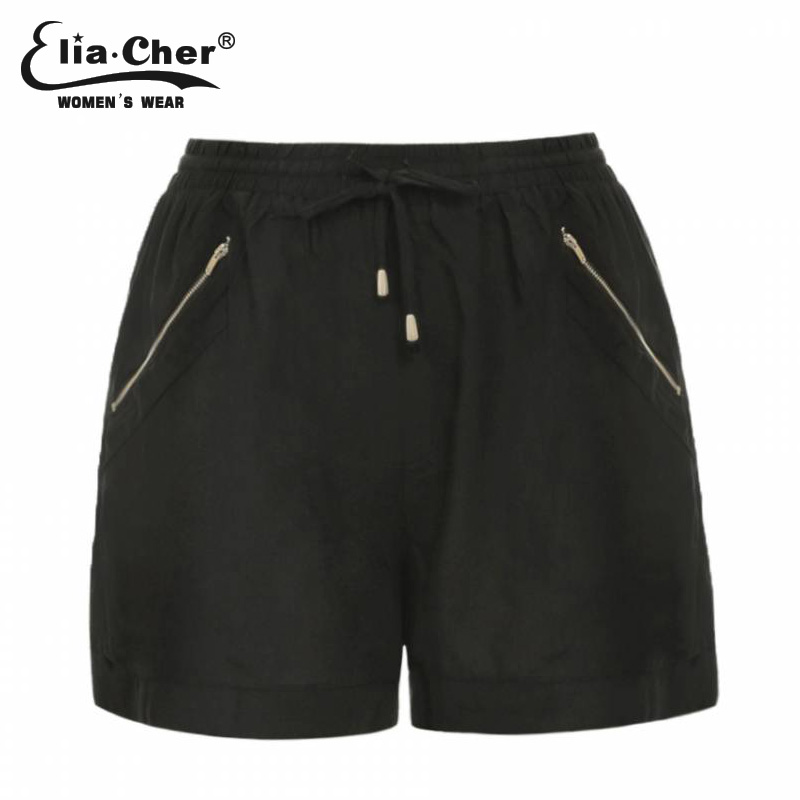 Shorts women Eliacher Brand shorts for women  black or army green winter short fitness Plus Size female clothing pocket