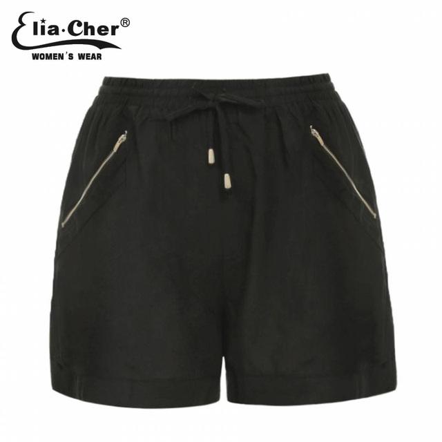 Shorts mujeres Eliacher cortocircuitos de la Marca para las mujeres 2017 negro o verde del ejército invierno corto ropa de fitness Más Tamaño hembra