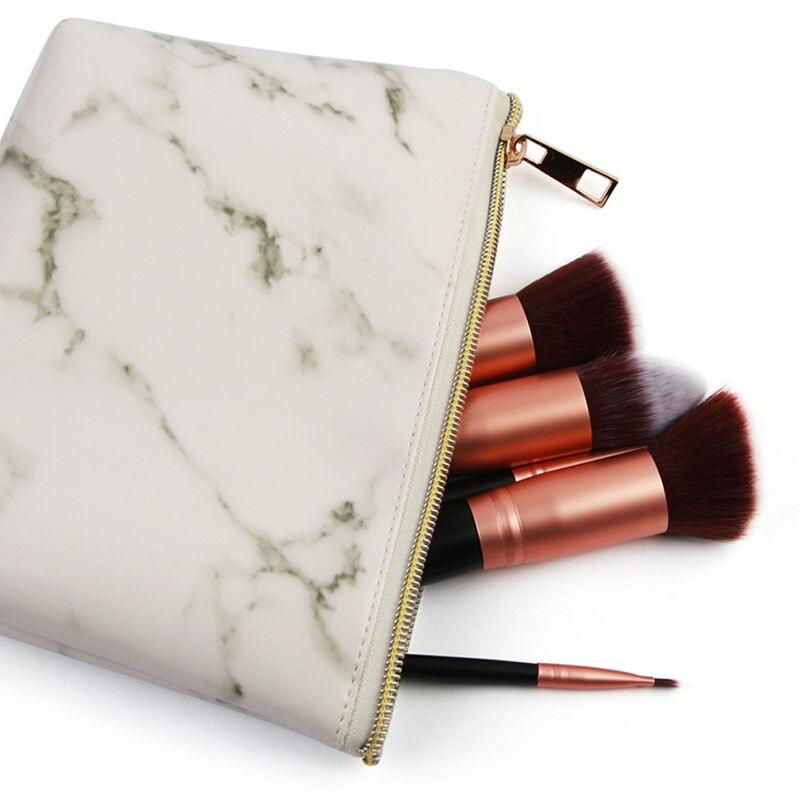 20 Portable Femmes De lot Message Make Maquillage Marbre Poche Cosmétique Sac Up Please Sacs Leave Zipper Pcs Voyage XnfqrvX