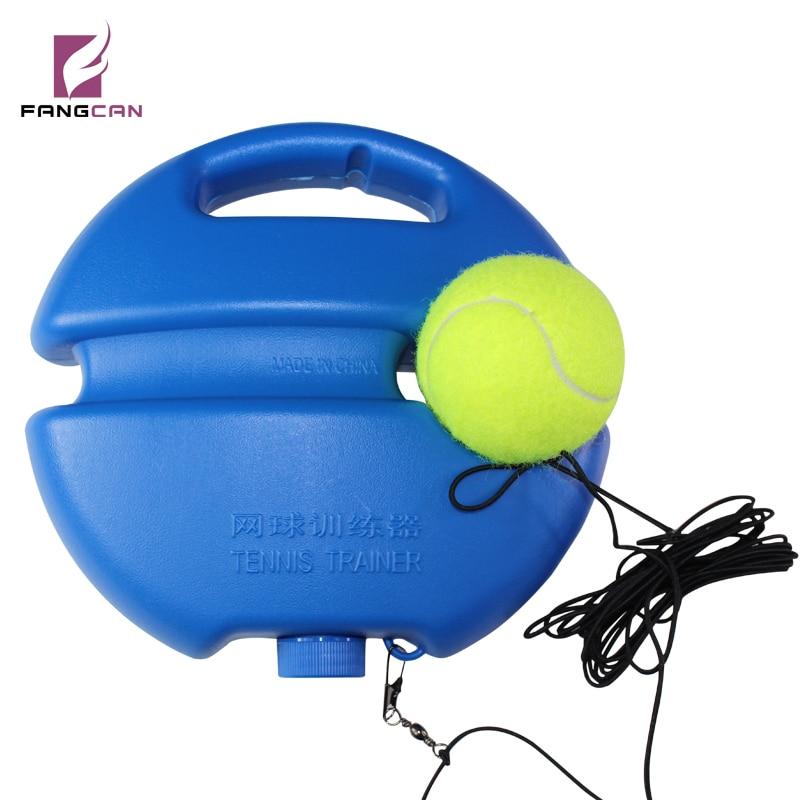 1 kos Vroče prodaja FANGCAN Teniški teniški pripomoček v novem stilu s teniško žogo in kljuko, gumijasto vrvico za trening